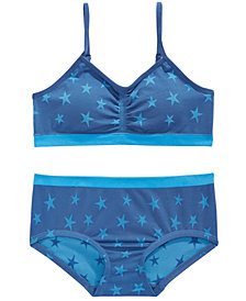 Maidenform Star-Print Bra & Underwear Separates, Little & Big Girls