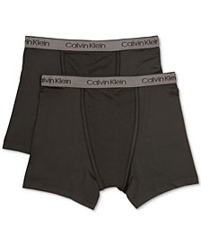 Calvin Klein 2-Pk. Cotton Boxer Briefs, Little Boys & Big Boys