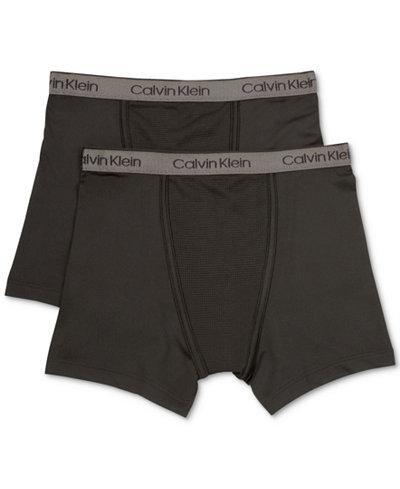 Calvin Klein 2-Pk. Boxer Briefs, Little Boys & Big Boys
