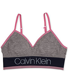 Calvin Klein Seam-Free Long-Line Bra, Little Girls & Big Girls