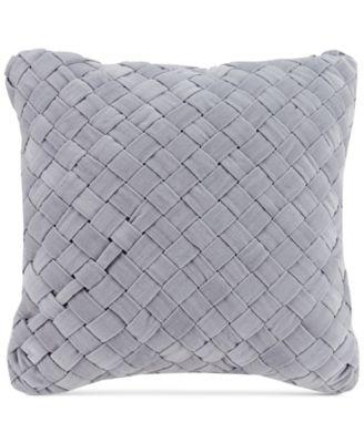 "Woven Velvet 16"" Square Decorative Pillow"