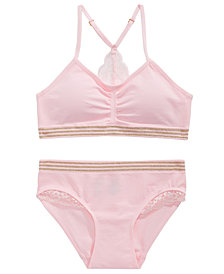 Maidenform Lace-Trim Bra & Underwear Separates, Little & Big Girls
