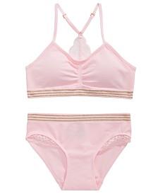 Maidenform Lace-Trim Bra & Underwear Separates, Little & Big Girls