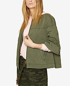 Sanctuary Cotton Ruffle-Cuff Jacket