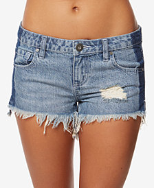 O'Neill Juniors' Athena Cotton Two-Tone Denim Shorts