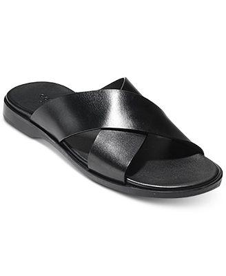 Goldwyn Crisscross Leather Sandals