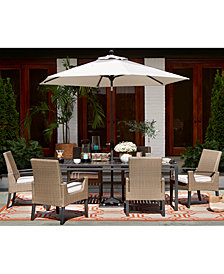 CLOSEOUT! Genevieve Outdoor Dining Collection, with Sunbrella® Cushions, Created for Macy's
