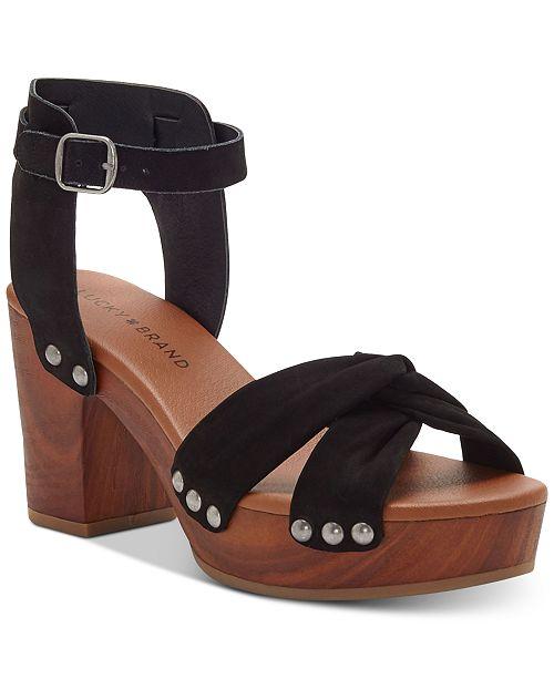 3f26d8b0564f Lucky Brand Whitneigh Wooden Platform Sandals   Reviews ...