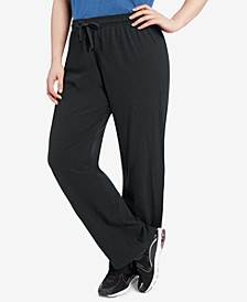 Plus Size Cotton Jersey Pants
