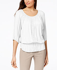 Style & Co Off-The-Shoulder Peplum Top, Created for Macy's
