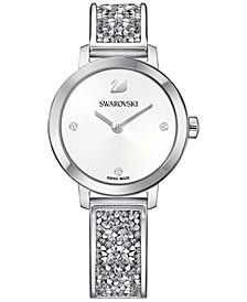Women's Swiss Cosmic Rock Crystal Silver-Tone Bracelet Watch 29mm