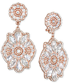 Jewel Badgley Mischka Crystal Cluster Drop Earrings