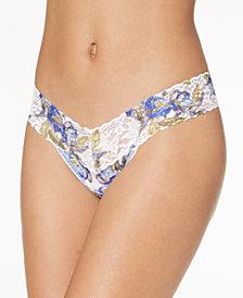 Hanky Panky Bon Fleur Low-Rise Sheer Lace Thong 7T1581