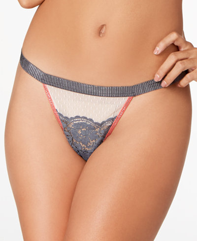 Cosabella Bisou Illusion Embroidered-Lace Thong BISOU0234