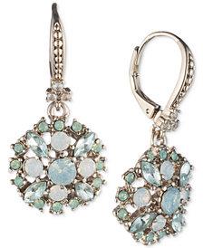 Marchesa Crystal Cluster Drop Earrings