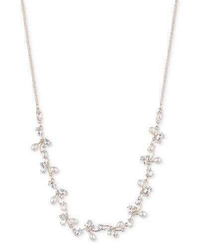 Carolee Gold-Tone Crystal & Imitation Pearl 16