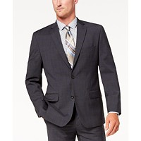 Michael Kors Men's Classic-Fit Airsoft Stretch Solid Suit Jacket (Charcoal)