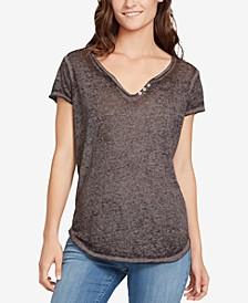Cooper Button-Trim T-Shirt