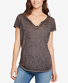 WILLIAM RAST Cooper Button-Trim T-Shirt