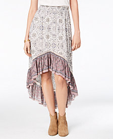 American Rag Juniors' Printed Ruffle-Hem Skirt, Created for Macy's