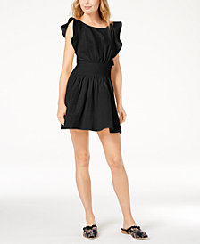 Free People New Erin Ruffled Mini Dress