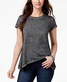 Burnout Handkerchief-Hem T-Shirt, Created for Macy's