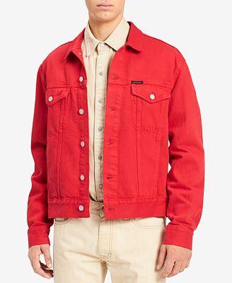 Calvin Klein Jeans Men S Classic Denim Trucker Jacket Coats