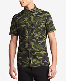Tommy Hilfiger Men's Patrick Camo-Print Shirt