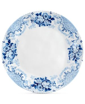 "Q Squared Cambridge Rose in Cobalt 4-Pc. Melamine 10.5"" Dinner Plate Set 5855122"