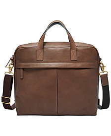 Fossil Men's Buckner Leather Briefcase