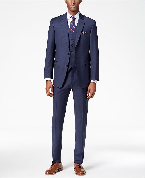 274c6215 ... Tommy Hilfiger Men's Modern-Fit TH Flex Stretch Suit Separates ...