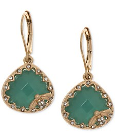 lonna & lilly Gold-Tone Pavé & Colored Stone Bee Drop Earrings