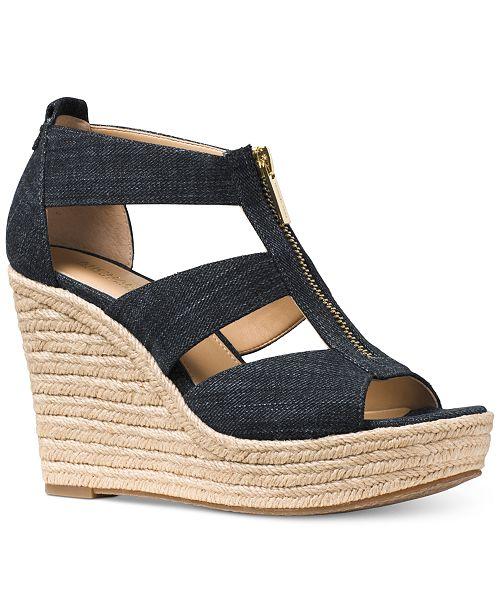 Michael Kors Damita Platform Wedge Sandals