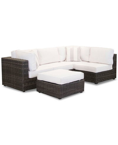 Viewport Outdoor 5-Pc. Modular Seating Set (2 Corner Units, 2 Armless Units and 1 Ottoman), Created for Macy's