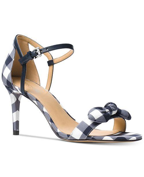 19b711aa0bb Michael Kors Pippa Gingham Dress Sandals