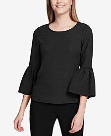 Calvin Klein Petite Bell-Sleeve Top