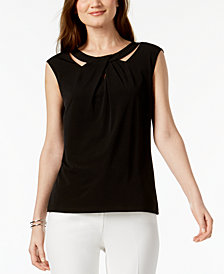 Kasper Crossover Cutout Top