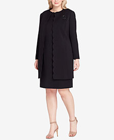 Tahari ASL Plus Size Scalloped Topper Jacket & Dress