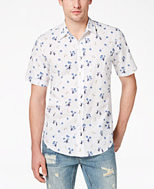 American Rag Men's Monkey Party Graphic-Print Shirt, Created for Macy's