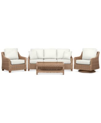 Willough Outdoor 4-Pc. Set (1 Sofa, 1 Club Chair, 1 Swivel Glider & 1 Coffee Table), Created for Macy's