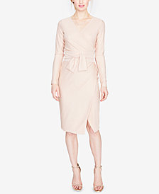 RACHEL Rachel Roy Metallic Self-Tie Wrap Dress