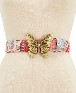 Steve Madden Butterfly-Plaque Belt 5531081