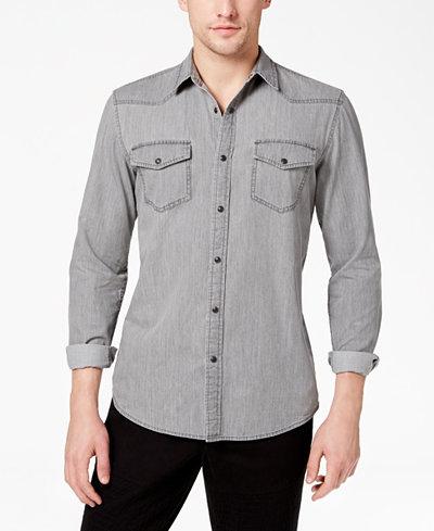 American Rag Men's Denim Western Shirt, Created for Macy's