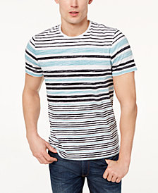 Michael Kors Men's Textured Stripe Jersey-Knit T-Shirt