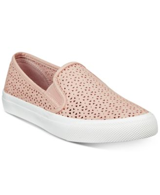 Image of Sperry Women's Seaside Perforated Slip-On Sneakers, Created for Macy's