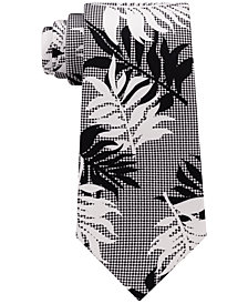 Sean John Men's Leaf Botanical Silk Tie