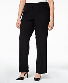 Anne Klein Plus Size Straight-Leg Trousers
