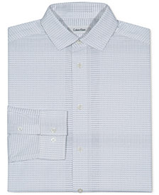 Calvin Klein Dot-Print Stretch Shirt, Big Boys