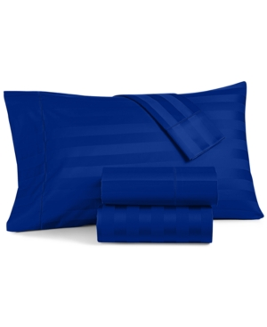Image of Charter Club Damask Stripe Twin 3-Pc Sheet Set, 550 Thread Count 100% Supima Cotton, Created for Macy's Bedding