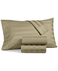Charter Club Damask Stripe Twin XL 3-Pc Sheet Set, 550 Thread Count 100% Supima Cotton, Created for Macy's